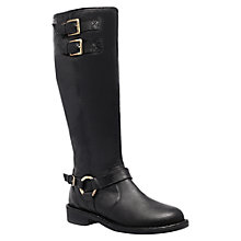 Buy Carvela Paddy Leather Buckle Detail Knee Boots Online at johnlewis.com
