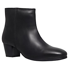 Buy Carvela Tia Leather Ankle Boots, Black Online at johnlewis.com