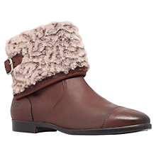 Buy UGG Inez Leather Ankle Boots, Chocolate Online at johnlewis.com