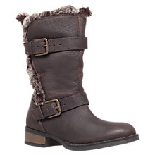 Buy Carvela Thrash Leather Fur Trim Calf Boots Online at johnlewis.com