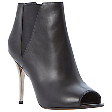 Buy Dune Cynthia Leather Chelsea Peep Toe Ankle Boots Online at johnlewis.com