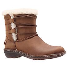 Buy UGG Rianne Leather Ankle Boots, Chocolate Online at johnlewis.com