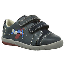 Buy Clarks Children's Softly Jet Shoes, Navy Multi Online at johnlewis.com
