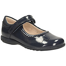 Buy Clarks Children's Trixie Stitched Heart Patent Leather Shoes, Navy Patent Online at johnlewis.com