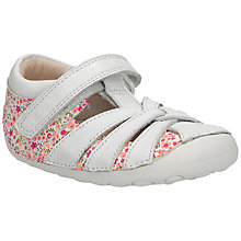 Buy Clarks Children's Little Mae Shoes, White/Pink Online at johnlewis.com