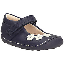 Buy Clarks Children's Little Darcy Shoes, Navy Online at johnlewis.com