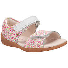 Buy Clarks Children's Softly Eda Sandals, white/Multi Online at johnlewis.com