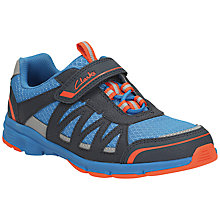 Buy Clarks Children's Pass Fly Trainers, Navy/Multi Online at johnlewis.com