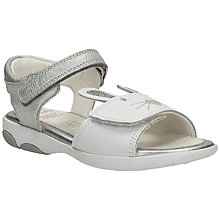Buy Clarks Children's Wiggles Sandals, White/Silver Online at johnlewis.com