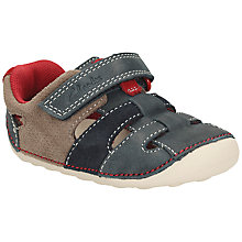 Buy Clarks Children's Artie Paw Trainers, Navy/Beige Online at johnlewis.com