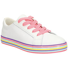 Buy Clarks Children's Cali Trainers, White Online at johnlewis.com