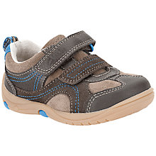 Buy Clarks Children's Run Rocks Trainers, Brown/Yellow Online at johnlewis.com