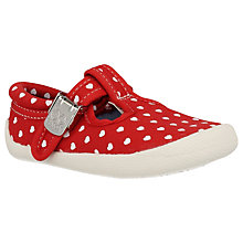 Buy Clarks Children's Choc Chip Heart Shoe, Red/White Online at johnlewis.com