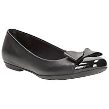 Buy Clarks Children's Tizz Ride Shoes, Black Online at johnlewis.com