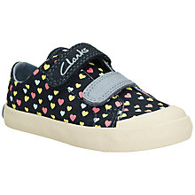 Buy Clarks Children's Halcy Rae Trainers, Navy/Multi Online at johnlewis.com