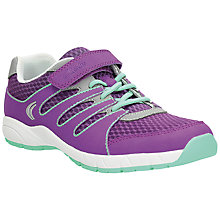 Buy Clarks Children's Cross Dart Trainers, Amethyst Online at johnlewis.com