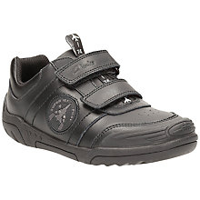 Buy Clarks Children's Wing Smart School Shoes, Black Online at johnlewis.com