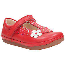 Buy Clarks Children's Elza Delilah Shoes, Red Online at johnlewis.com