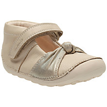 Buy Clark Children's Little Nia Shoes, Cream Online at johnlewis.com