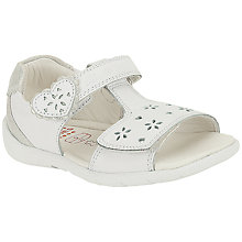 Buy Clarks Softly Love Leather Sandals, White Online at johnlewis.com