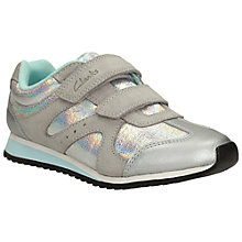 Buy Clarks Children's Super Gleam Trainers, Multi Online at johnlewis.com