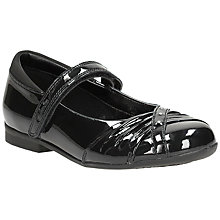 Buy Clarks Children's Dolly Patent Leather Shoes, Black Online at johnlewis.com