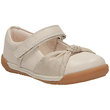 Buy Clarks Children's Softly Nia Leather Shoes, Cream Online at johnlewis.com