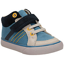 Buy Clarks Children's Juggle It Trainers, Denim Online at johnlewis.com