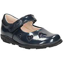 Buy Clarks Children's Ella Leah Shoes, Navy Patent Online at johnlewis.com