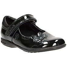 Buy Clarks Children's Trixie Run Patent Shoes, Black Online at johnlewis.com