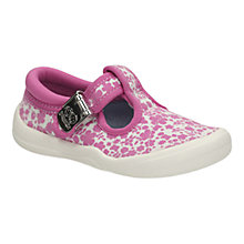 Buy Clarks Children's Briley Canvas Shoes, Pink/Cream Online at johnlewis.com