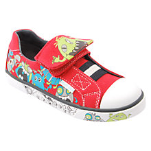 Buy Start-rite Boo Canvas Trainers, Red Online at johnlewis.com