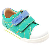 Buy Start-rite Baby Milan Leather Double Strap Shoes, Bright Green Online at johnlewis.com