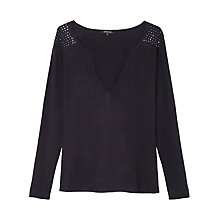 Buy Gérard Darel Mimosa Knitted Jumper, Navy Online at johnlewis.com
