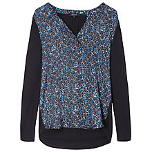 Buy Gérard Darel T-Shirt, Black & Blue Online at johnlewis.com