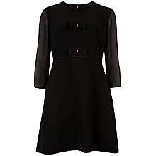 Buy Ted Baker Bow Detail Dress, Black Online at johnlewis.com