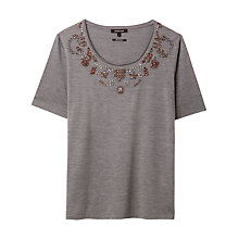 Buy Gérard Darel Silk Blend T-Shirt, Grey Online at johnlewis.com