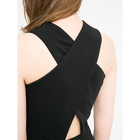 Buy Mango Criss Cross Strap Dress, Black Online at johnlewis.com