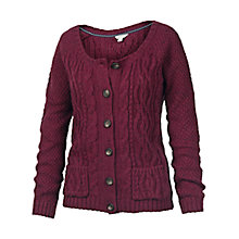 Buy Fat Face Alvie Short Mixed Cardi, Ivory Online at johnlewis.com