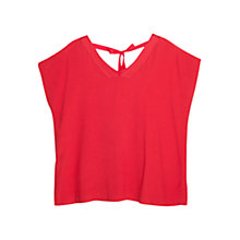 Buy Violeta by Mango Back Ribbon Blouse, Red Online at johnlewis.com