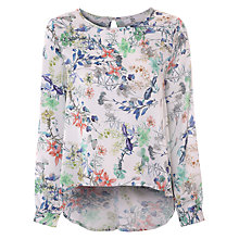 Buy True Decadence Cuffed Caped Top, White Floral Online at johnlewis.com