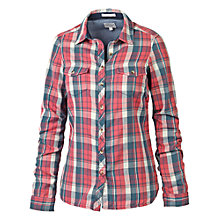 Buy Fat Face Classic Fit Double Check Shirt, Pomegranate Online at johnlewis.com