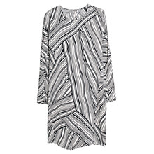 Buy Mango Optical Art Print Dress, Natural White Online at johnlewis.com