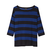 Buy Gérard Darel Stripe Wool Jumper, Black & Blue Online at johnlewis.com