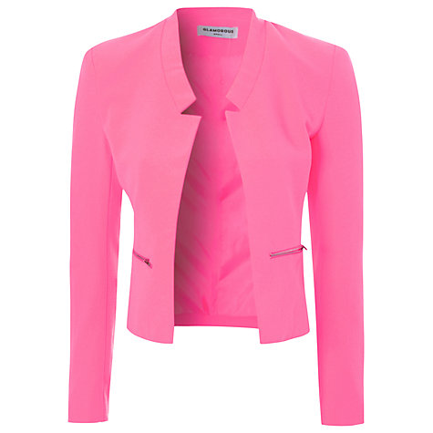 Buy True Decadence Cropped Blazer, Pink Online at johnlewis.com