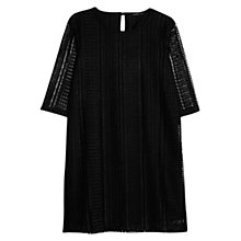 Buy Mango Rhombus Openwork Dress, Black Online at johnlewis.com