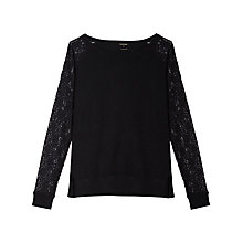 Buy Gérard Darel Lace Jumper, Black Online at johnlewis.com