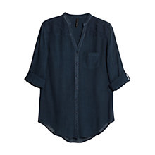 Buy Mango Embroidered Shoulder Shirt, Medium Blue Online at johnlewis.com