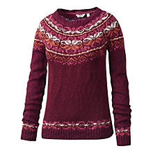 Buy Fat Face Fairisle Yoke Jumper, Bordeaux Online at johnlewis.com