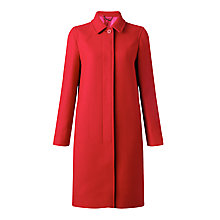 Buy Jigsaw Woven Edie Coat, Red Online at johnlewis.com